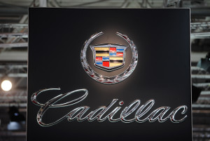 A Cadillac logo is seen at the Paris Motor Show on Sept. 28, 2012, in Paris. (Antoine Antoniol/Getty Images/Thinkstock file)