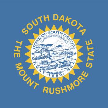 South Dakota flag. (tkacchuk/IStock/Thinkstock)