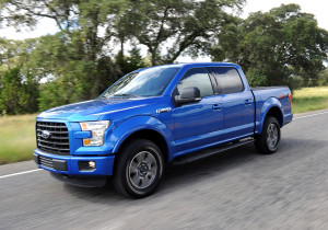 The 2015 Ford F-150 drives Oct. 1 in San Antonio, Texas. (Sam VarnHagen/Provided by Ford)