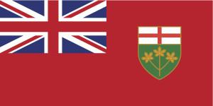 The Ontario province flag. (tkacchuk/iStock/Thinkstock)