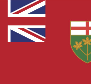 The Ontario province flag. (tkacchuk/iStock/Thinkstock)