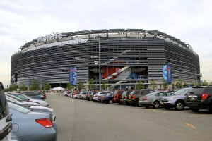 A July 19, 2014, view of MetLife Arenain Seacaucus, N.J.,  from the parking lot facing the Pepsi Gate on a hazy summer day. (ErimacGroup/iStock Editorial/Thinkstock file)