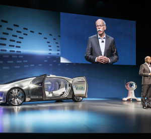 Daimler AG Chairman Dieter Zetsche, shows the Mercedes F 015. (Provided by Daimler AG)