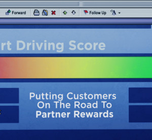 A sample image of the OnStar driving assessment that General Motors announced it would offer. (Copyright General Motors)