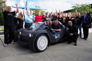 The Strati is a 3-D printed car from Local Motors. (Provided by BusinessWire)