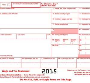 W-2s must be provided to to your employees by Feb. 2, 2015. (Provided by Internal Revenue Service)