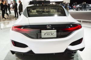 A Honda FCV is on display Jan. 12 during the 2015 Detroit International Auto Show at the COBO Center in downtown Detroit. (edaldridge/iStock Editorial/Thinkstock file)