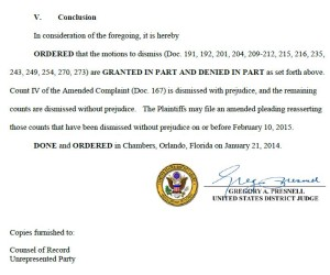 Part of the January ruling setting the date for amending the complaint in the MDL.