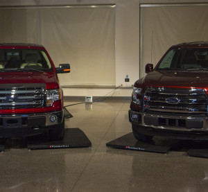 Ford's 2015 F-150 weighs 732 pounds less than the 2014 F-150, in large part because of the 2015's aluminum content. (Provided by Ford)