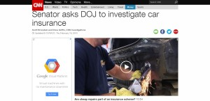 This screenshot from CNN.com shows coverage of a letter by U.S. Sen. Richard Blumenthal, D-Conn., to the Department of Justice. (Screenshot of www.CNN.com)