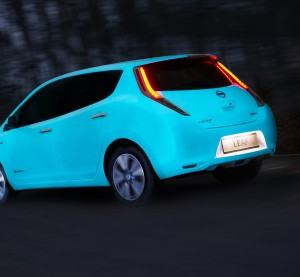 Nissan has used Starpath paint to gain attention with a glow-in-the-dark Leaf. (Provided by Nissan)