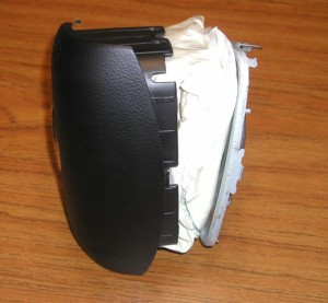 An apparently counterfeit air bag is shown in this image posted on the National Intellectual Property Rights Coordination Center website. (Provided by National Intellectual Property Rights Coordination Center)