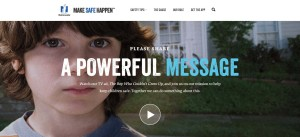 "This screenshot from Nationwide's Make Safe Happen website shows a promotion for their controversial ad ""The Boy Who Couldn't Grow Up."" (Screenshot of www.makesafehappen.com)"