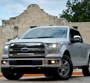 The 2015 Ford F-150 is seen Sept. 28, 2014, in San Antonio, Texas. (Sam VarnHagen/Provided by Ford)