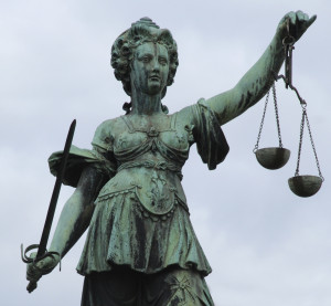 A statue of Justice in Frankfurt, Germany. (Markus Beck/iStock/Thinkstock)