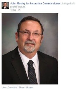 Mississippi insurance commissioner candidate John Mosley is seen in this screenshot from his campaign Facebook page. (Screenshot from John Mosley campaign Facebook page.)