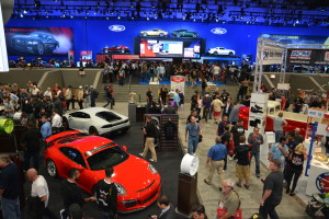Some of the exhibits at the 2014 SEMA Show. (Provided by Specialty Equipment Market Association)
