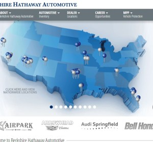 """Calling it a """"historic transaction,"""" Berkshire Hathaway announced Tuesday it has acquired the Van Tuyl Group. The new dealership company will be called Berkshire Hathaway Automotive; a screenshot of its website is shown here. (Screenshot of www.berkshirehathawayautomotive.com)"""