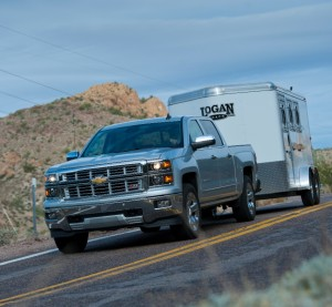 The 2015 Silverado 1500 is shown here. General Motors has built the truck out of high-strength steel. (© General Motors)