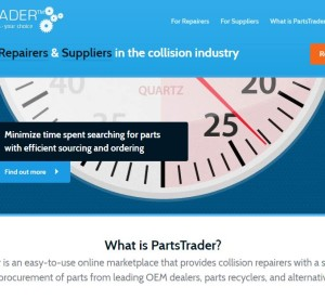 This screenshot shows the website of the U.S. PartsTrader offering. (Screenshot of www.partstrader.us.com)