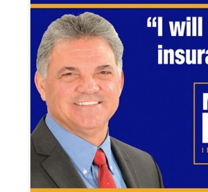 A screenshot from Louisiana insurance commissioner candidate Matt Parker's website. (Screenshot from www.mattparkerforlouisiana.com)