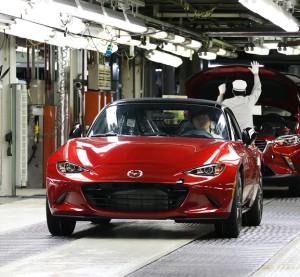 A 2016 Mazda Miata is shown. (Mazda via PRNewsFoto)