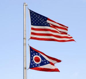 The American and Ohio flags. (Herbert Bias/iStock/Thinkstock)