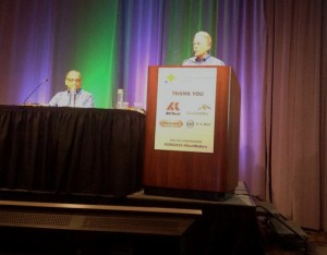 I-CAR industry technical support manager Steve Marks implored auto manufacturers to think of collision repairers Wednesday at a Detroit-area automotive steel summit. (John Huetter/Repairer Driven News)