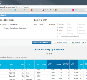 This screenshot gives an example of one of the new features PartsTrader 3.0 provides to suppliers. (Provided by PartsTrader)