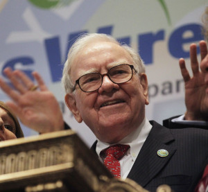 Berkshire Hathaway Chairman and CEO Warren Buffett smiles at the New York Stock Exchange before ringing the opening bell on Sept. 30, 2011, in New York City. (Mario Tama/Getty Images News/Thinkstock file)