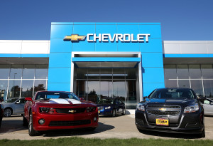 New cars sit on the sales lot of a Chevrolet dealership on Jan. 3, 2013, in Colma, Calif. (Justin Sullivan/Getty Images News/Thinkstock file)