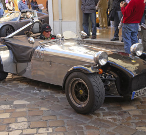 A Lotus Seven is seen May 18, 2012, at the ''Mille Miglia'' historical race for classic cars in Italy. (bernotto/iStock Editorial/Thinkstock file)
