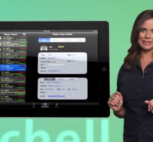 This screenshot from Mitchell video shows the mobile version of the RepairCenter program that saw a contract battle between a Washington state repairer and Mitchell. (Screenshot from www.mitchell.com)