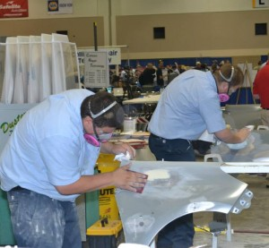 Auto body students compete at the 2014 SkillsUSA. (Provided by SkillsUSA)