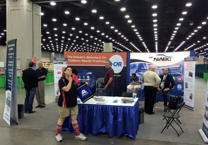 Booth setup at SkillsUSA 2015. (Provided by Collision Repair Education Foundation)