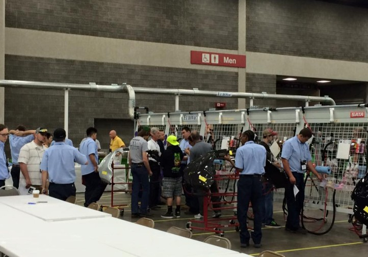 Orientation for the collision repair competition at SkillsUSA 2015. (Provided by Collision Repair Education Foundation)