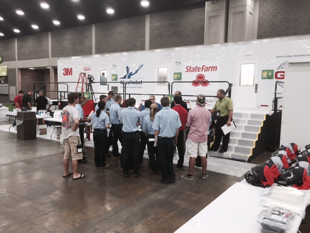 Refinishing orientation at Skills USA 2015. (Kye Yeung/Society of Collision Repair Specialists)