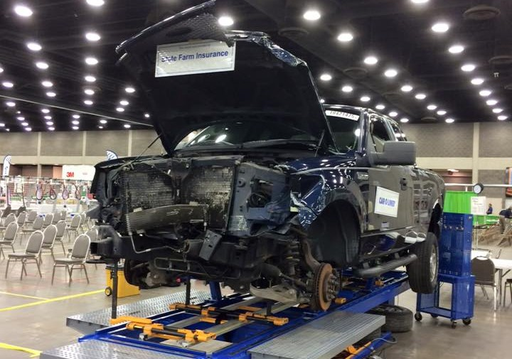 Competition areas at SkillsUSA. (Provided by Collision Repair Education Foundation)