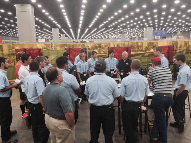 Welding orientation at Skills USA 2015. (Kye Yeung/Society of Collision Repair Specialists)