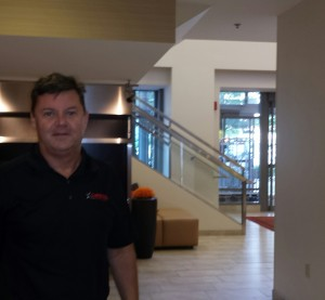CARSTAR CEO David Byers poses in the lobby of the Courtyard by Marriott in Grand Rapids, Mich., on June 24, 2015. (John Huetter/Repairer Driven News)