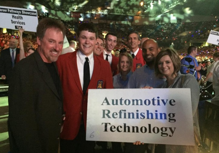Automotive refinishing contest winners are seen at SkillsUSA. (Provided by Chelsie Wilson, Dennis Technical Education Center)