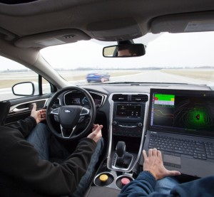 A self-driving Ford Focus hybrid prototype. (Provided by Ford)
