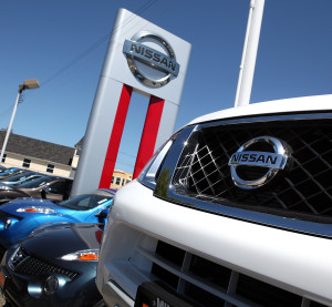 Nissans are displayed at a Nissan dealership on May 12, 2011, in Millbrae, Calif. (Justin Sullivan/Getty Images News/Thinkstock file)