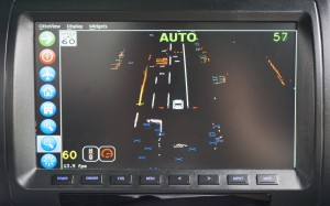 """A photo displays an indication of what a Delphi self-driving Audi """"sees"""" on a highway. (Provided by Delphi)"""