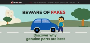 """This screenshot from the new """"Genuine Is Best"""" website shows its homepage. (Screenshot of genuineisbest.com.au)"""