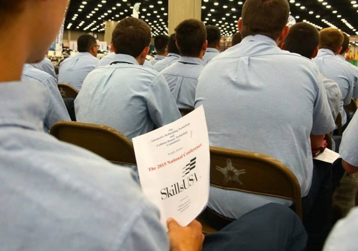 Students competed in collision repair and automotive refinishing June 24, 2015, at SkillsUSA. (Courtesy Kristen Felder/Collision Hub)