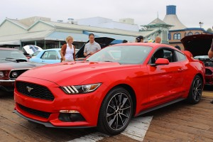The 2015 Ford Mustang draws attention at Pier 4 in 2014.  (Provided by Ford)