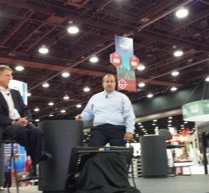I-CAR CEO John Van Alstyne and curriculum and product development Director Josh McFarlin announced the I-CAR production management role July 23, 2015. (John Huetter/Repairer Driven News)