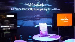 General Motors' MyPriceLink display at NACE on July 24, 2015. (John Huetter/Repairer Driven News)