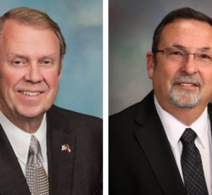 With a week to go before the Mississippi primary, incumbent Republican Insurance Commissioner Mike Chaney, left, had more than $60,000 on hand than challenger John Mosley, a body shop owner. (Provided by Mississippi Insurance Department, John Mosley)